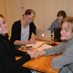 Mat og internat Elever i matsalen