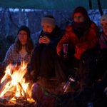 Friluftsliv lett -  Bålkos i gapahuk vinteren 2015