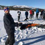 Håvard insturerer folkehøgskole elever i kiting