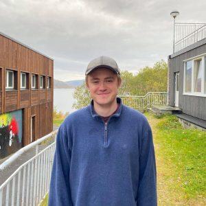 Elevrådsleder Benjamin Sæbbø, Vefsn Folkehøgskole Toppen 2021-22